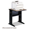Safco Fax/Printer Stand w/Reversible Top, 1-Shelf, 24w x 28d x 30h, Black/Medium Oak (SAF1934)