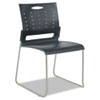 Alera Continental Series Perforated Back Stacking Chairs, Charcoal Gray, 4/Carton (ALESC6546)