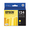 Epson T124420 (124) Moderate Capacity Ink, Yellow (EPST124420)