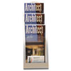 Deflect-O Three-Tier Leaflet Holder, 6-3/4w x 6-15/16d x 13-5/16h, Silver (DEF693645)