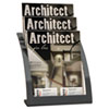 Deflect-O Three-Tier Magazine Holder, 11-1/4w x 6-15/16d x 13-5/16h, Silver (DEF693745)