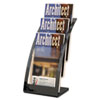Deflect-O Three-Tier Leaflet Holder, 6-3/4w x 6-15/16d x 13-5/16h, Black (DEF693604)