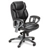 Mayline Ultimo 300 Series Mid-Back Synchro Tilt Chair, Black Leather (MLNUL330MBLK)
