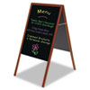 Mastervision MasterVision Magnetic Wet Erase Board, 27x34, Black, Cherry Wood Frame (BVCDKT30505052)