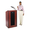 Amplivox Presidential Plus Wireless Lectern, 25-1/2w x 20-1/2d x 46-1/2h, Mahogany (APLSW450MH)