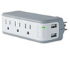 Belkin Mini Surge Protector with USB Charger, Wall Mount, 918 Joules (BLKBZ103050QTVL)