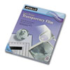 Apollo Transparency Film for Laser Printers, Letter, Clear, 50/Box (APOCG7060)