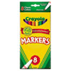 Crayola Non-Washable Markers, Fine Point, Classic Colors, 8/Set (CYO587709)