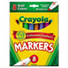 Crayola Non-Washable Markers, Broad Point, Bold Colors, 8/Set (CYO587732)