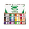 Crayola Non-Washable Classpack Markers, Broad Point, 16 Assorted Colors, 256/Box (CYO588201)