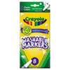 Crayola Washable Markers, Fine Point, Classic Colors, 8/Pack (CYO587809)