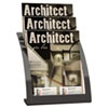 Deflect-O Three-Tier Magazine Holder, 11-1/4w x 6-15/16d x 13-5/16h, Black (DEF693704)