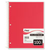 Mead Spiral Bound Notebook, College Rule, 8-1/2 x 11, White, 100 Sheets/Pad (MEA06622)