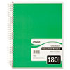 Mead Spiral Bound Notebook, College Rule, 8 x 10-1/2, White,Twin wire, 180 Sheets/Pad (MEA05682)
