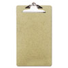 Universal Recycled Clipboard, 1/2 Capacity, Holds 8-1/2w x 14h, Brown, 3/Pack (UNV05563)