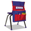 Carson-Dellosa Publishing Chairback Buddy Pocket Chart, 12 x 22 1/2, Blue/Red (CDPCD158035)