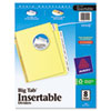 Avery WorkSaver Big Tab Reinforced Dividers w/Clear Tabs, 8-Tab, Letter, Buff (AVE11112)