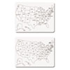 Creativity Street Two-Sided U.S. Map Whiteboard, 24 x 18 (CKC9873)