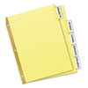 Avery WorkSaver Big Tab Reinforced Dividers w/Clear Tabs, 5-Tab, Letter, Buff (AVE11110)