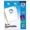 Avery WorkSaver Big Tab Dividers, Clear Tabs, 8-Tab, Letter, White (AVE11124)