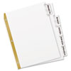 Avery WorkSaver Big Tab Dividers, Clear Tabs, 5-Tab, Letter, White (AVE11122)