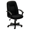 Basyx VL601 Series Managerial Mid-Back Swivel/Tilt Chair, Black Fabric & Frame (BSXVL601VA10)