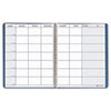 House Of Doolittle Teacher's Planner, Embossed Simulated Leather Cover, 11 x 8-1/2, Blue (HOD50907)