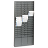 Steelmaster Steel Time Card Rack with Adjustable Dividers, Five Inch Pockets (MMF27018JTRGY)