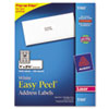 Avery Easy Peel Laser Address Labels, 1 x 2-5/8, White, 3000/Box (AVE5160)
