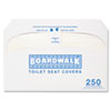 Boardwalk Premium Half-Fold Toilet Seat Covers, 250 Covers/Box, 10 Boxes/Carton (BWKK2500)