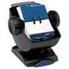 Rolodex Covered Swivel Base Rotary Card File Holds 500 2 1/4 x 4 Cards, Black/Smoke (ROL66871)