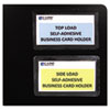 C-Line Self-Adhesive Business Card Holders, Top Load, 3-1/2 x 2, Clear, 10/Pack (CLI70257)