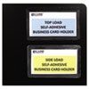 C-Line Self-Adhesive Business Card Holders, Side Load, 3-1/2 x 2, Clear, 10/Pack (CLI70238)