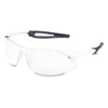 Crews Inertia Safety Glasses, White Frame, Clear Anti-Fog Lens, One Size (CRWIA130AF)