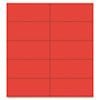 Mastervision Dry Erase Magnetic Tape Strips, Red, 2 x 7/8, 25/Pack (BVCFM2404)