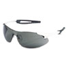 Crews Inertia Safety Glasses, White Frame, Gray Anti-Fog Lens, One Size (CRWIA132AF)
