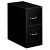 Oif Two-Drawer Economy Vertical File, 15w x 26-1/2d x 29h, Black (EFS21109)