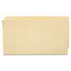 Globe-Weis Standard File Pocket, End Tab, Manila,1 3/4 Exp., Legal (GLW66114)