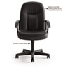 Basyx VL601 Series Managerial Mid-Back Swivel/Tilt Chair, Black Fabric & Frame (BSXVL601VA10D)