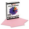 Universal Colored Paper, 20lb, 8-1/2 x 11, Pink, 500 Sheets/Ream (UNV11204)