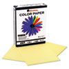 Universal Colored Paper, 20lb, 8-1/2 x 11, Canary, 500 Sheets/Ream (UNV11201)