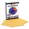 Universal Colored Paper, 20lb, 8-1/2 x 11, Goldenrod, 500 Sheets/Ream (UNV11205)