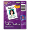 Avery Photo ID Badge Holder, Vertical, 3w x 4h, Clear, 25/Pack (AVE74472)
