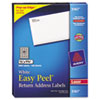 Avery Easy Peel Laser Address Labels, 1/2 x 1-3/4, White, 8000/Box (AVE5167)