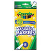 Crayola Washable Markers, Fine Point, Bold Colors, 8/Set (CYO587836)
