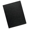 Fellowes Linen Texture Binding System Covers, 11-1/4 x 8-3/4, Black, 50/Pack (FEL5201201)