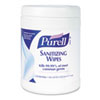 Purell Sanitizing Hand Wipes, 6 x 6.75, White, 270 Wipes per Canister, 6 per Carton (GOJ911306CT)