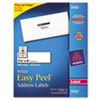 Avery Easy Peel Laser Address Labels, 1-1/3 x 4, White, 1400/Box (AVE5162)