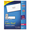 Avery Easy Peel Laser Address Labels, 1 x 4, White, 2000/Box (AVE5161)