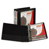 Samsill Speedy Spine Angle-D Ring View Binder, 11 x 8-1/2, 3 Capacity, Black (SAM19180C)